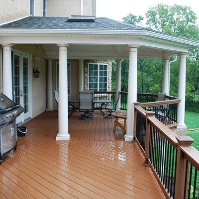 Deck and Open Porch - Picture 3896