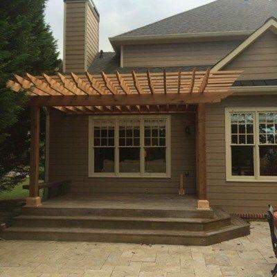 Cedar Pergola Deck - Picture 4019