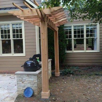 Cedar Pergola Deck - Picture 4020