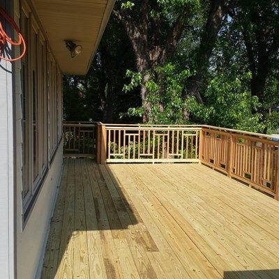 Treated Deck Muskego - Picture 5105
