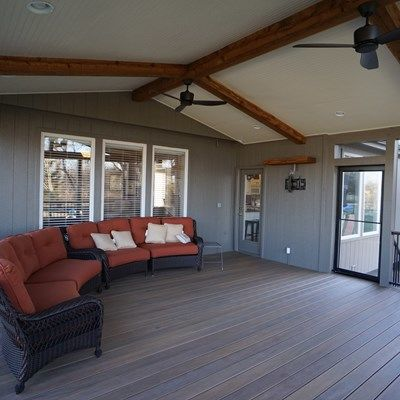 Gable Roof Screened Porch - Picture 5179