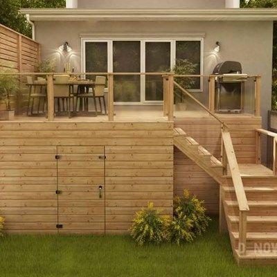 Custom Cedar Deck - Picture 6316