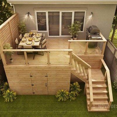 Custom Cedar Deck - Picture 6317