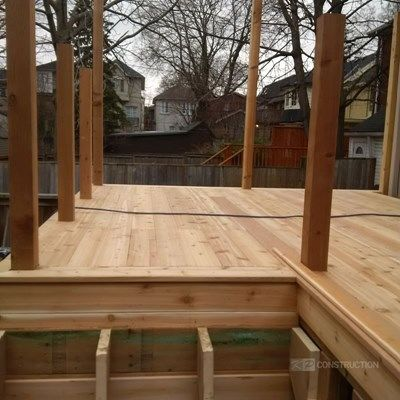 Custom Cedar Deck - Picture 6326
