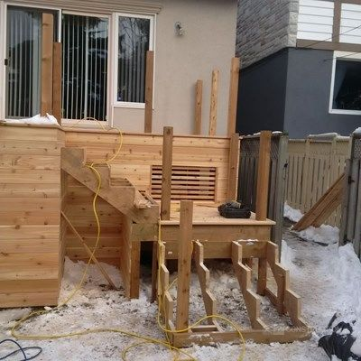 Custom Cedar Deck - Picture 6327