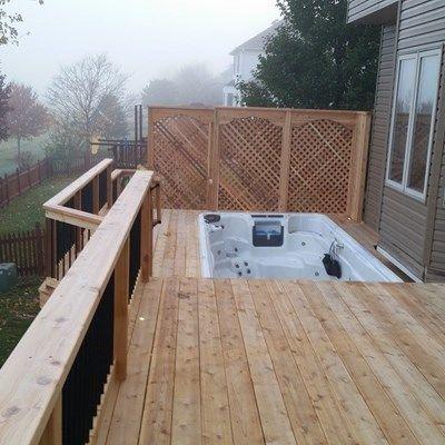 cedar deck around hot tub - Picture 6395