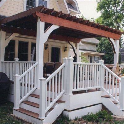 All trex deck with cedar pergola - Picture 6402