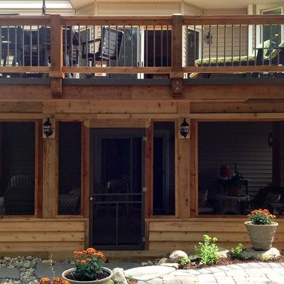 Deck with Enclosed Porch - Picture 6468
