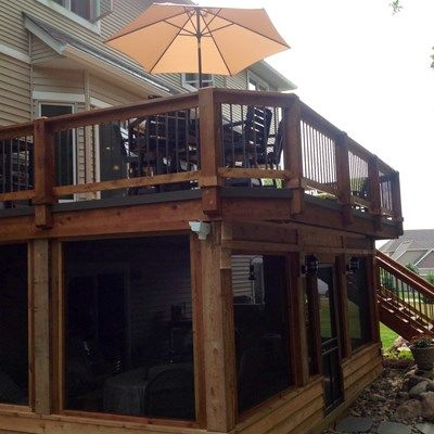 Deck with Enclosed Porch - Picture 6469