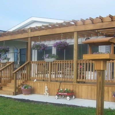 Pergola and deck - Picture 6476