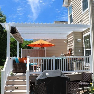 Azek Deck with Vinyl Pergola - Picture 6725