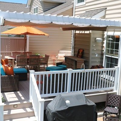 Azek Deck with Vinyl Pergola - Picture 6728