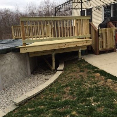 Pressure Treated Pool Deck - Picture 7091