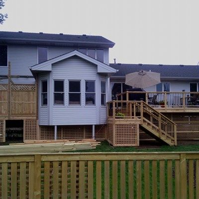 Deck with storage under deck. - Picture 7147