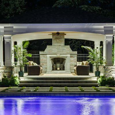 Poolside Pergola Pavilion - Picture 7302