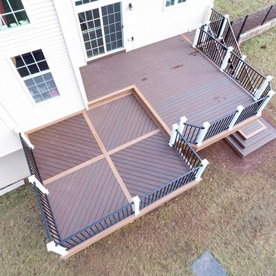 2 Level Deck, Custom Floor Pattern - Picture 7505