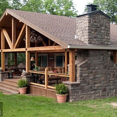 Gabled Roof Covered Deck - Picture 7677