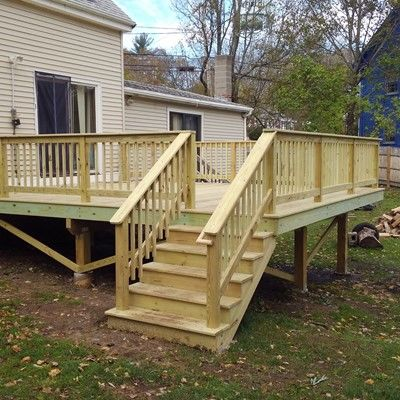 New Pressure Treated Deck - Picture 7693