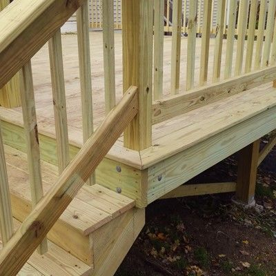New Pressure Treated Deck - Picture 7694