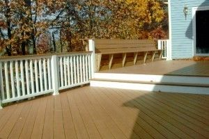 3 Level Deck with built in benches - Picture 7799