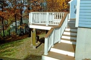3 Level Deck with built in benches - Picture 7801