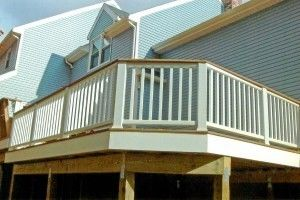 3 Level Deck with built in benches - Picture 7802
