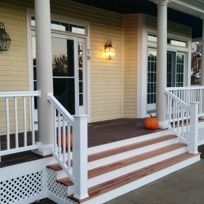 Farmer's Porch with PVC columns - Picture 7820