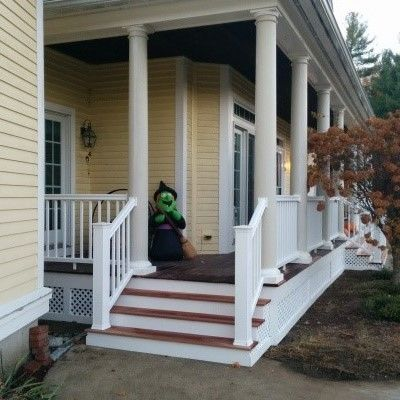 Farmer's Porch with PVC columns - Picture 7821