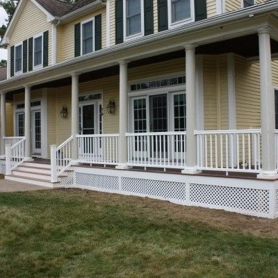 Farmer's Porch with PVC columns - Picture 7822