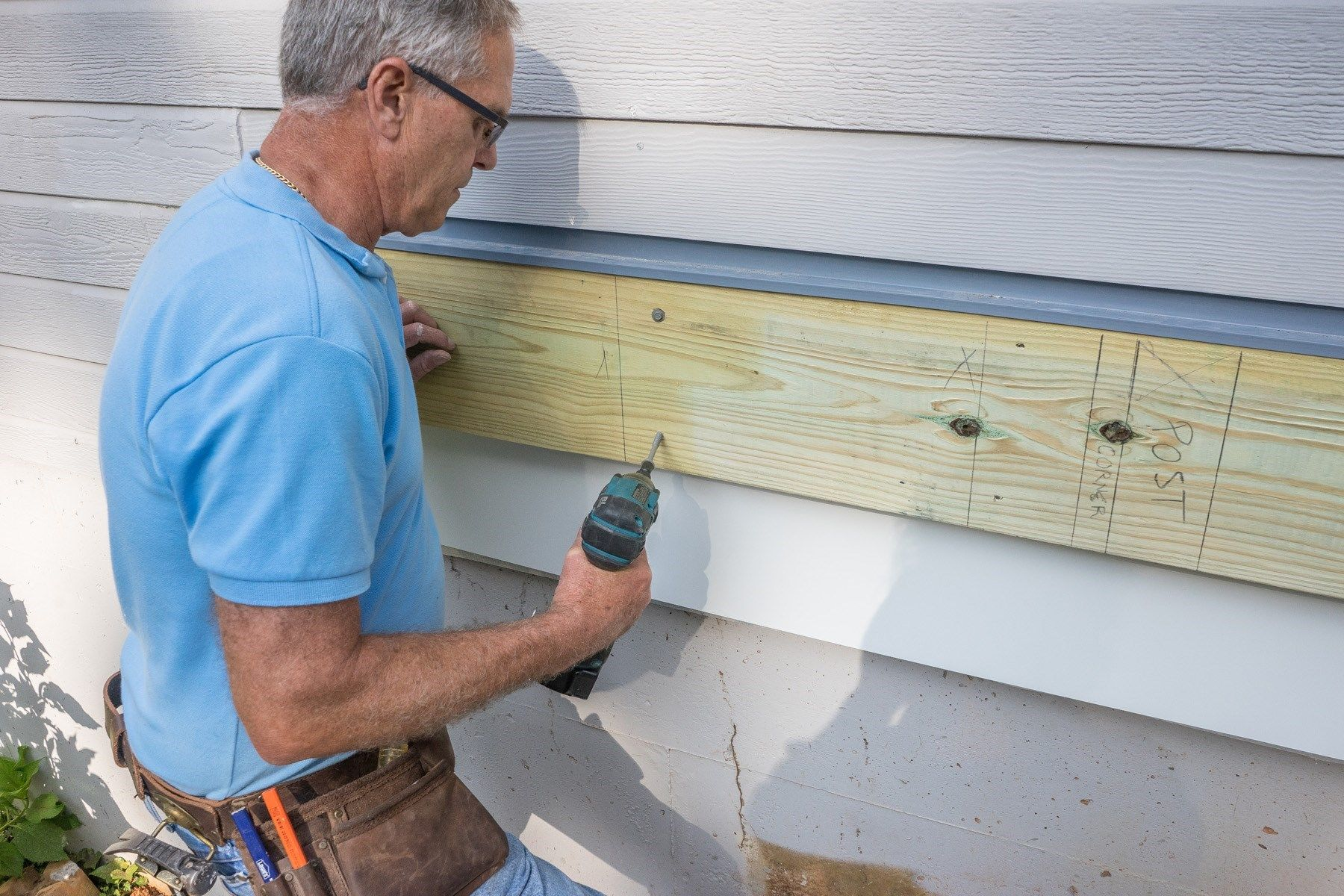 Attaching A Ledger Board For Your Deck Decks Com
