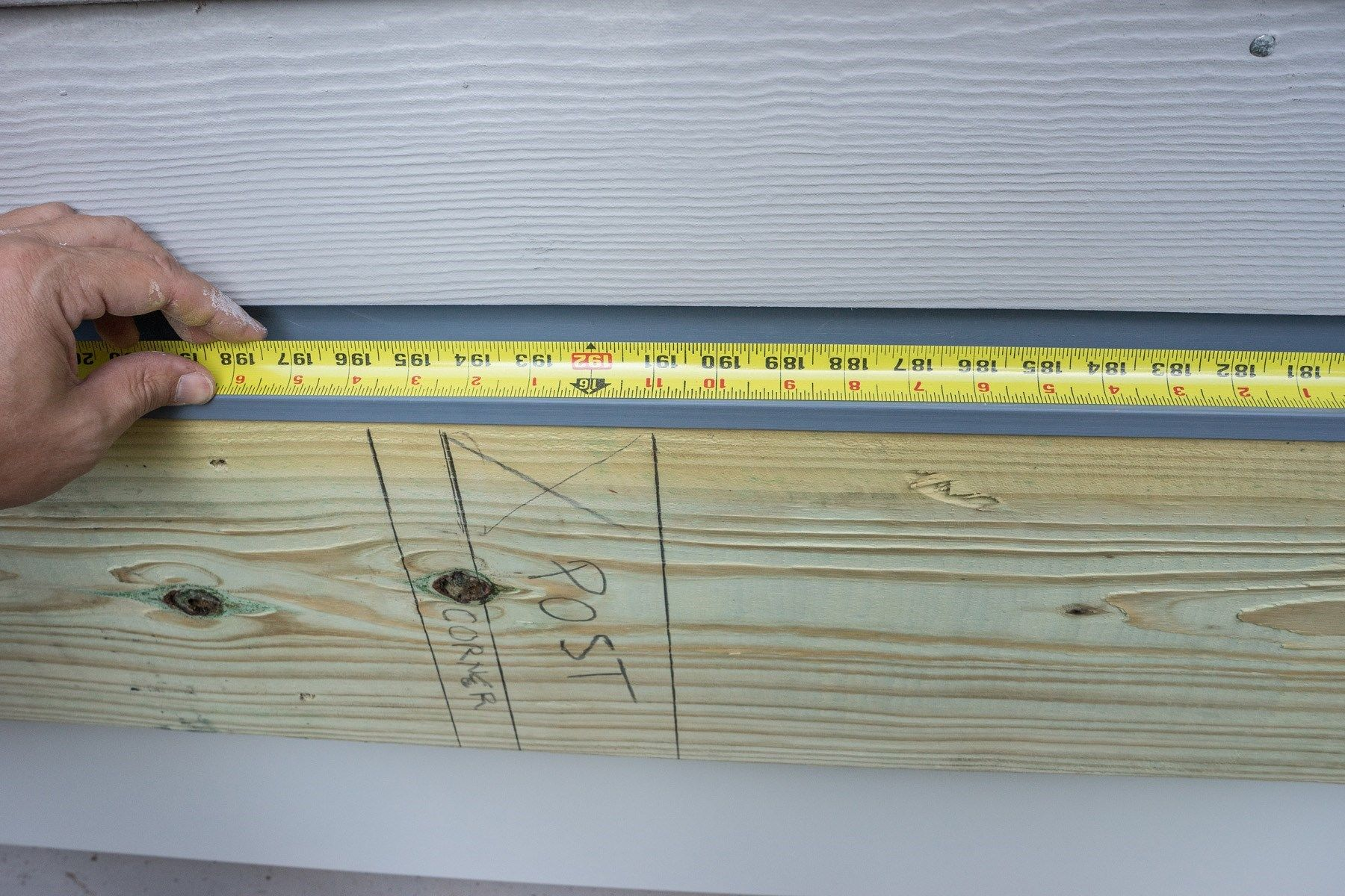 Laying Out The Deck Ledger Board Decks Com