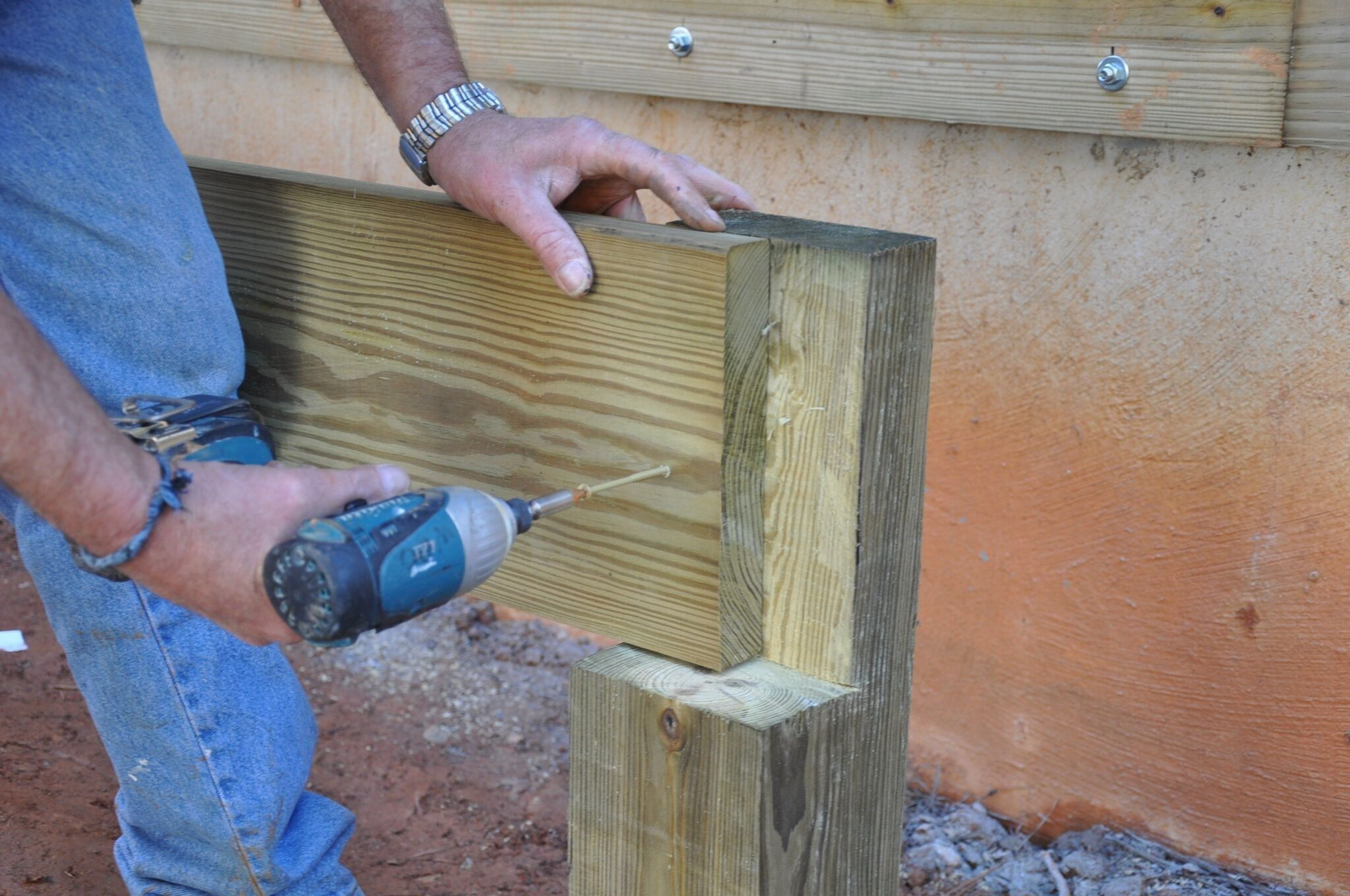 Splitting A Beam Over A Post