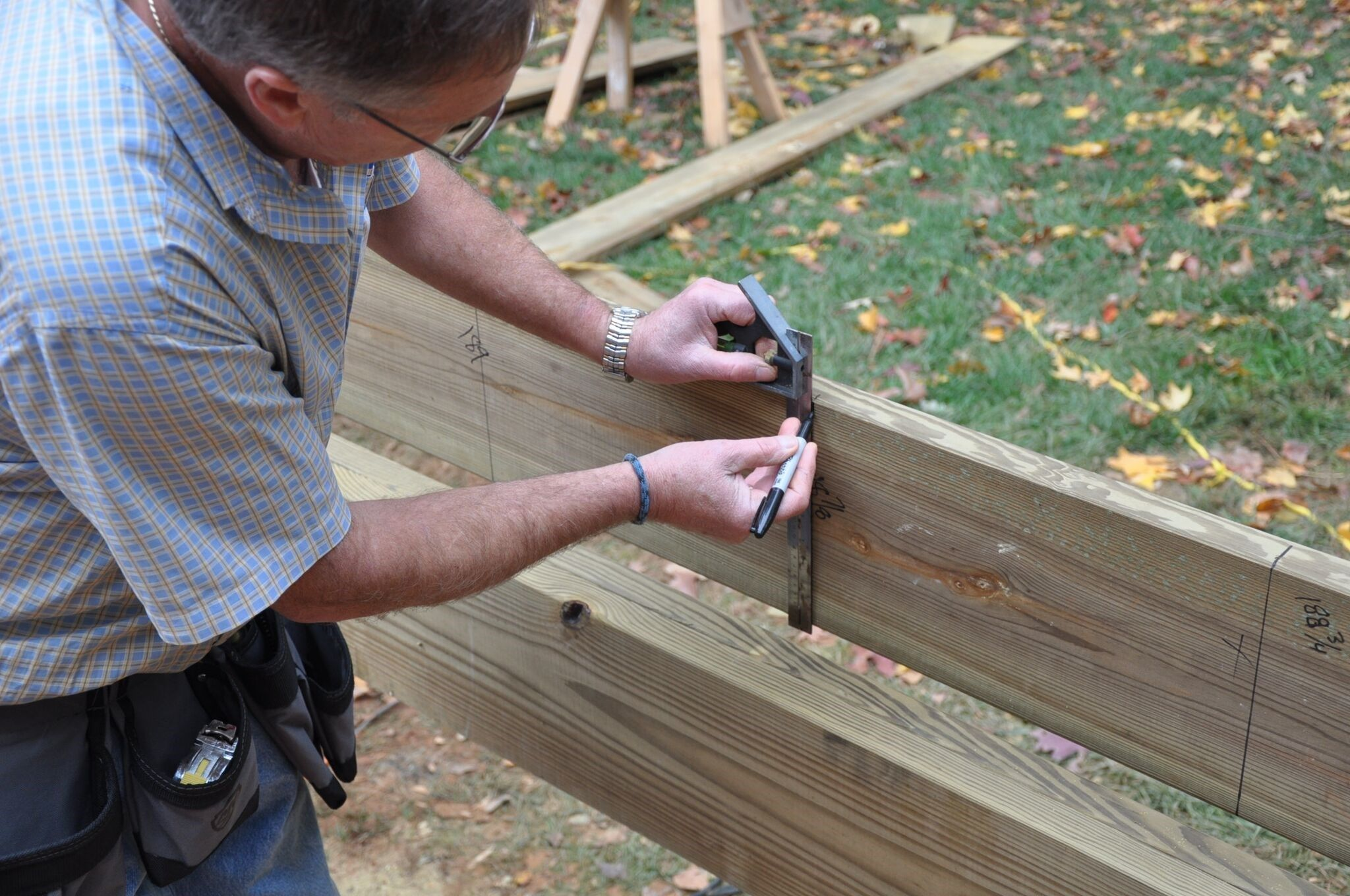 Use A Sharpie Or Construction Pencil To Mark Your Joists