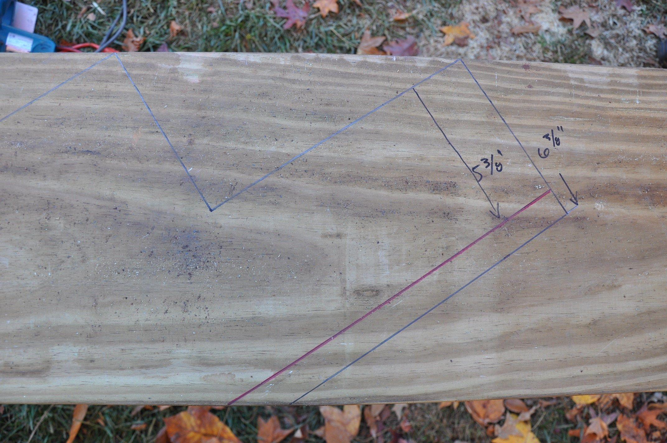Deck Stair Stringer Layout