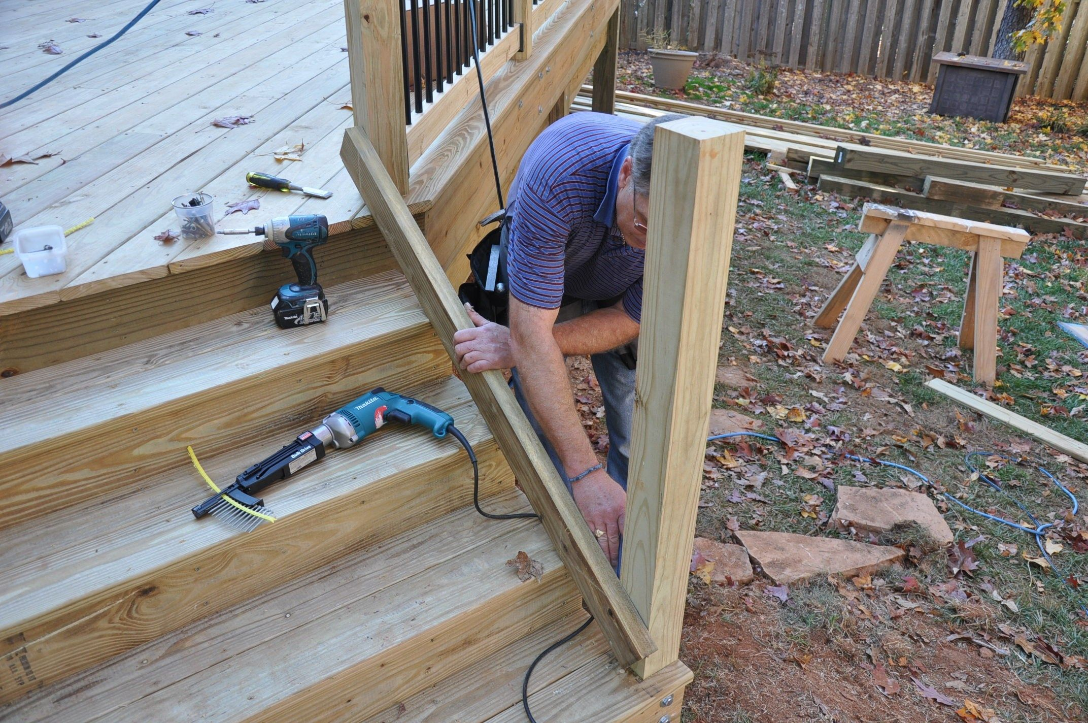 How To Install Deck Stair Railings Decks Com