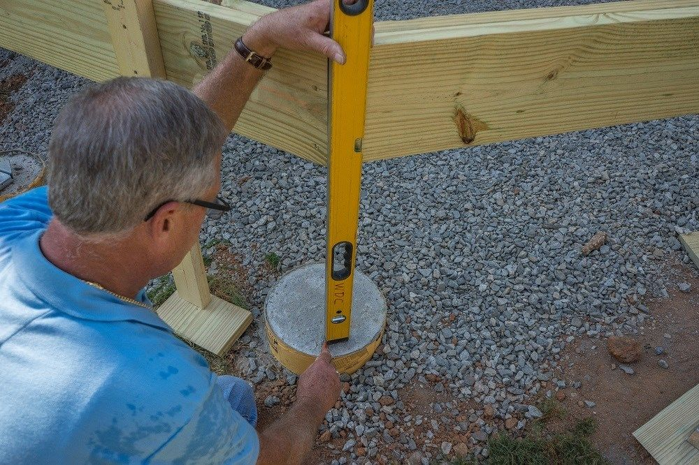 How to Install Wood Deck Support Posts | Decks com