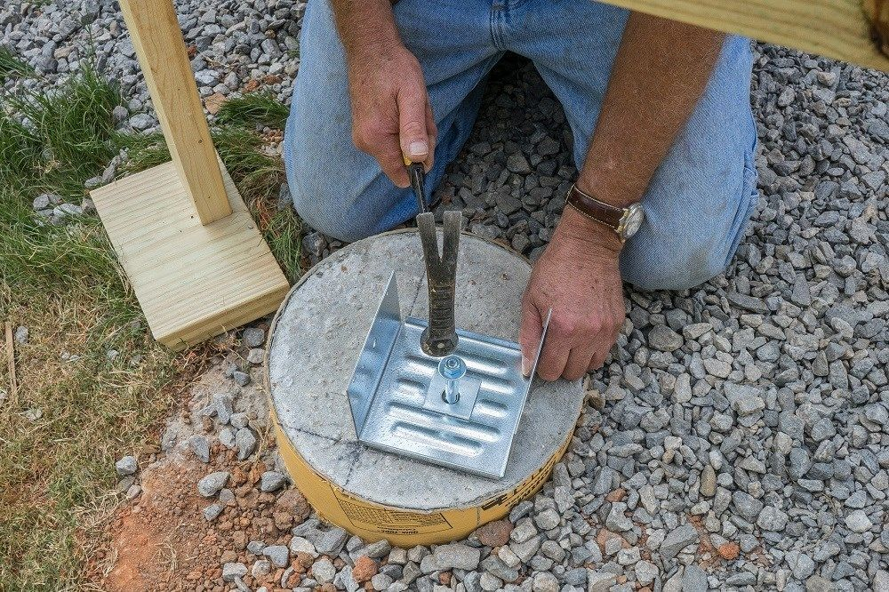 How To Install Wood Deck Support Posts Decks Com