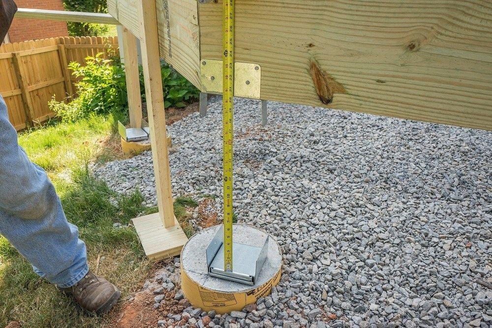 Installing Wood Deck Support Posts Decks Com Decks Com