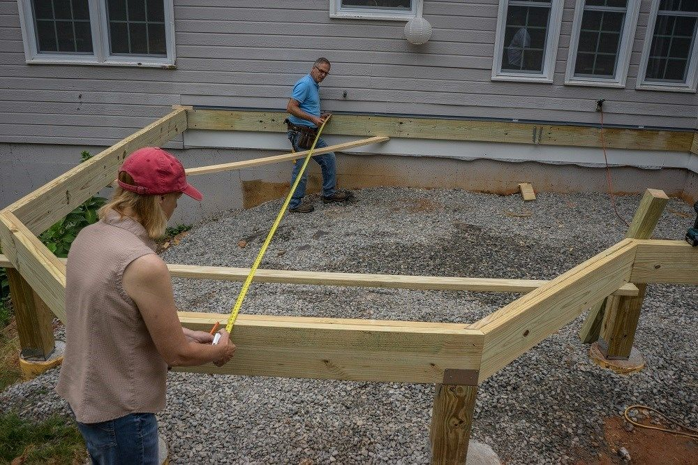 Decks Com Installing Joists On A Deck With Angles And A