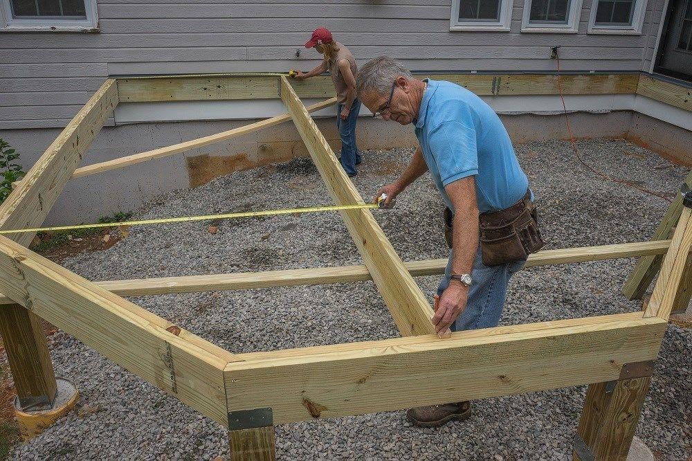 Decks Installing Joists Deck Angles