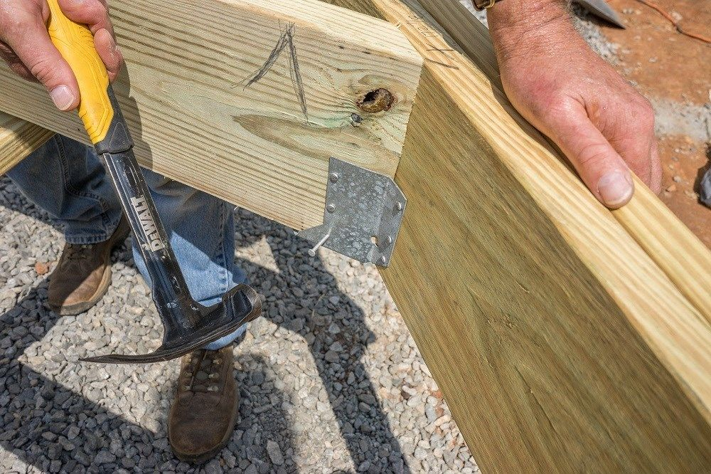 Installing Joists On A Deck With Angles And A Flush Beam