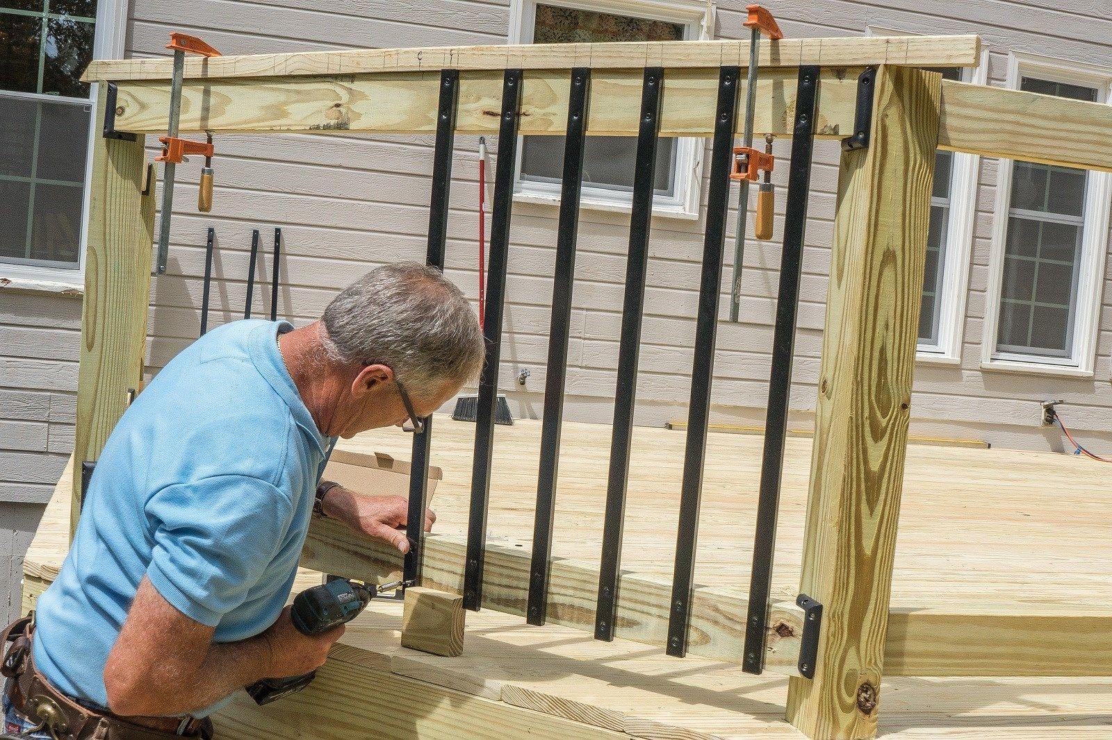 Decks Com Flush Mount Railing Balusters
