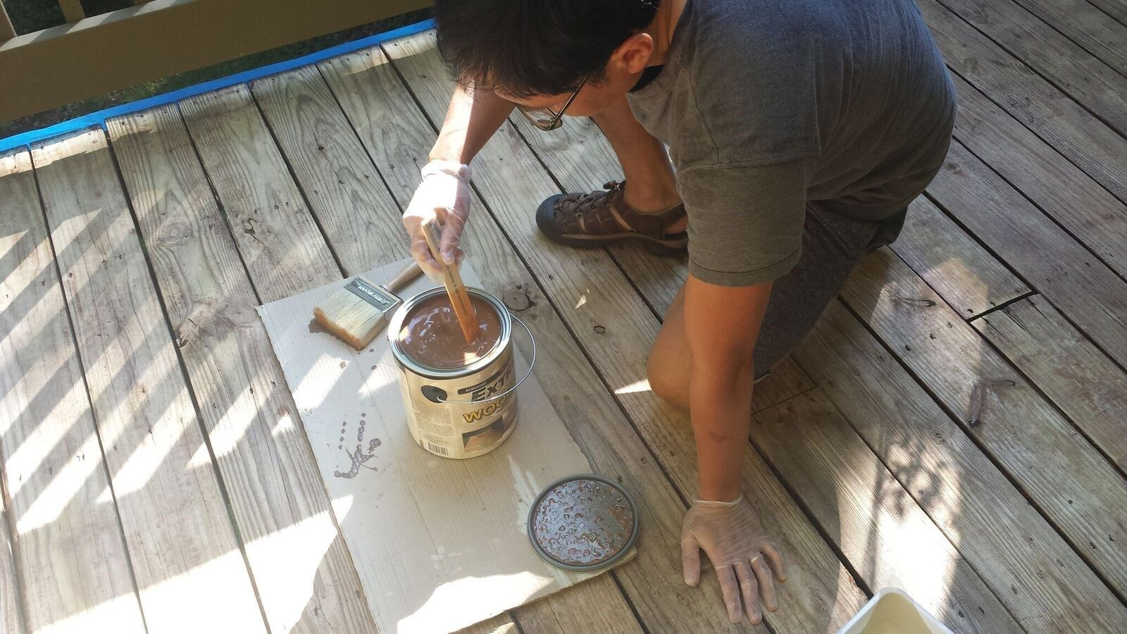 How To Stain A Deck Decks Com