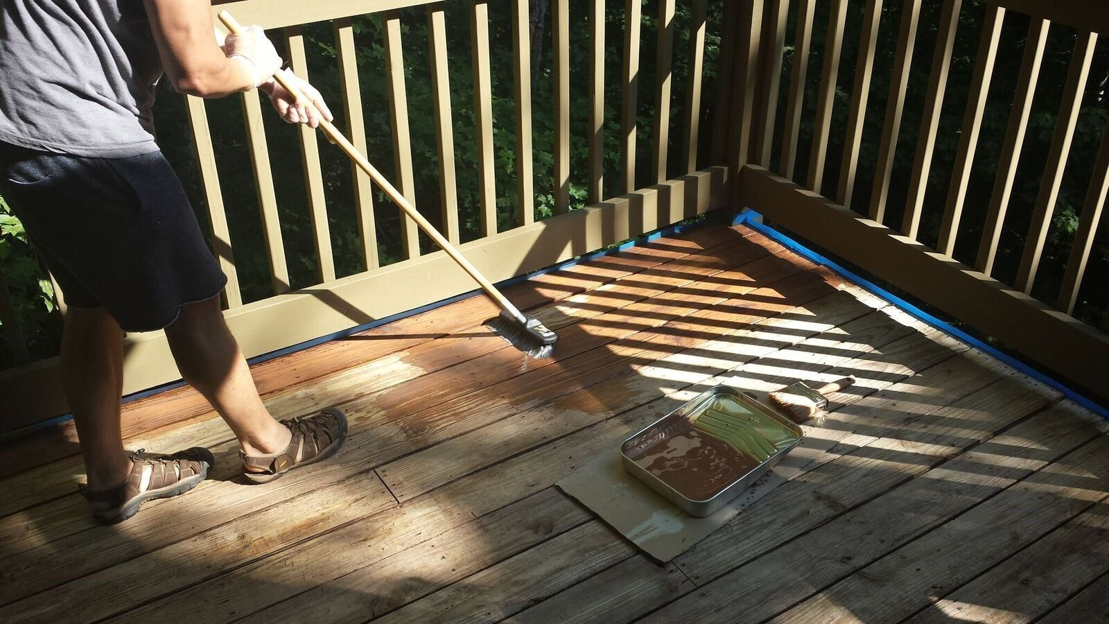 How To Stain A Wood Deck Decks Com
