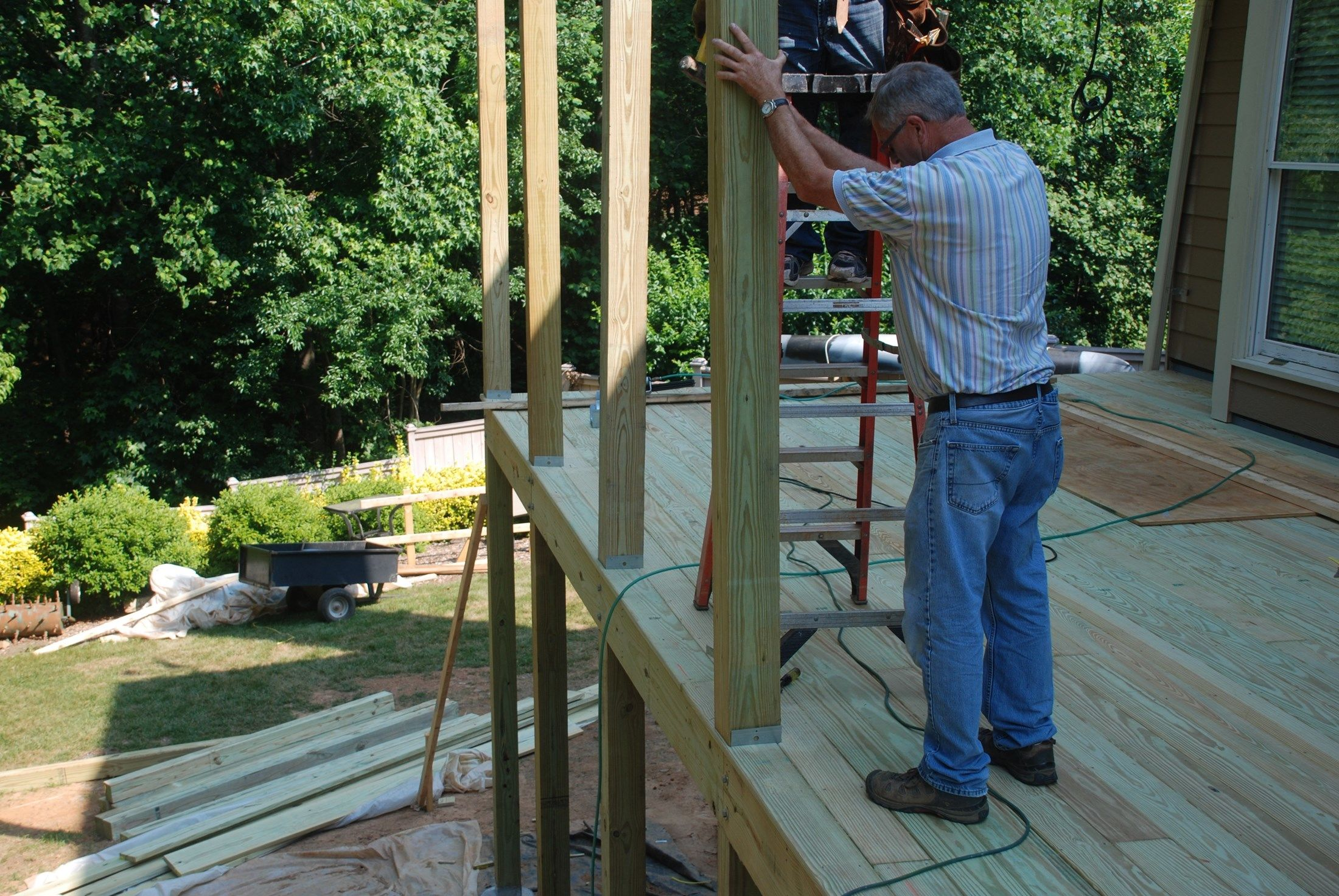 How To Build A Shed Roof Over Deck Decks