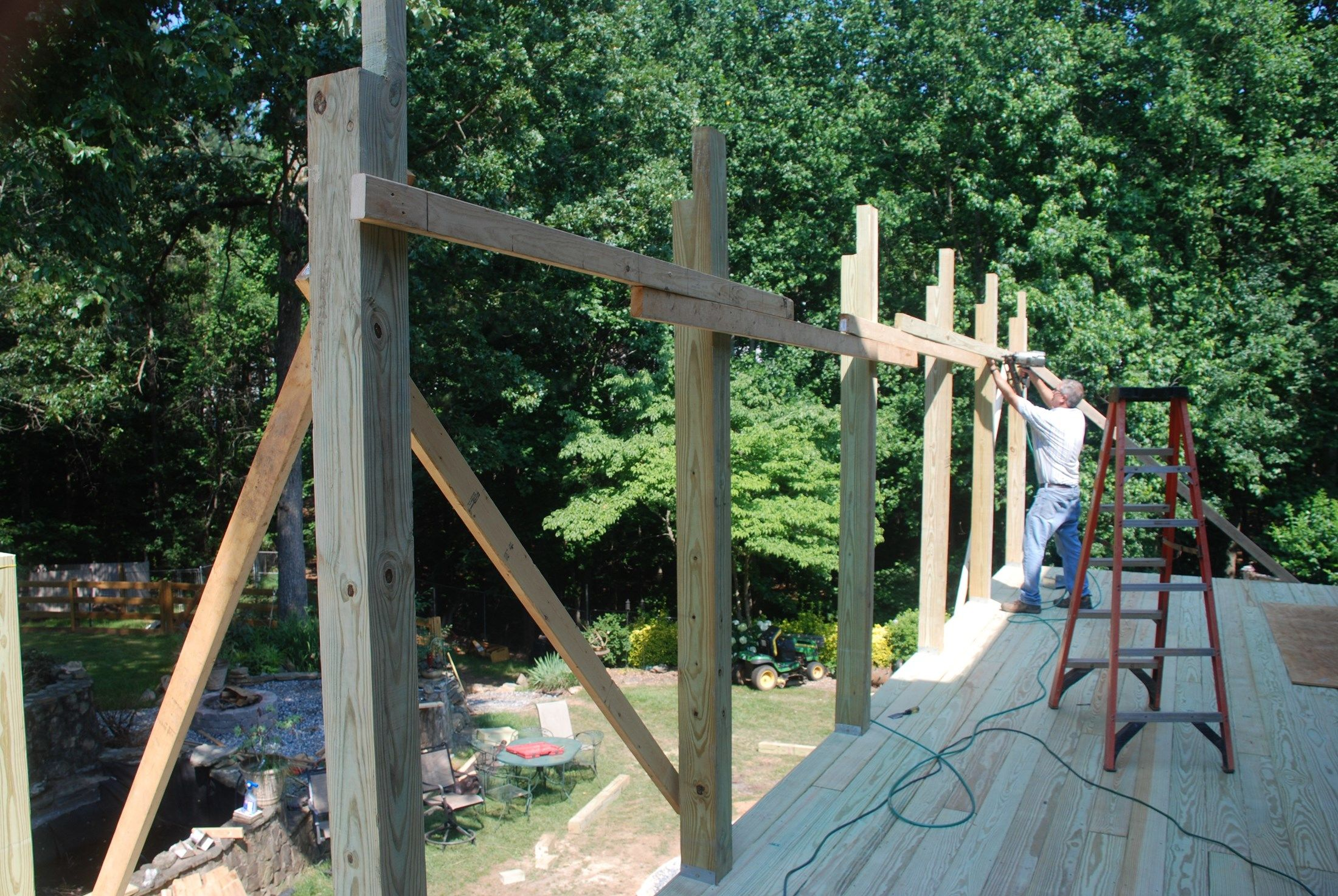 How To Build A Shed Roof Over A Deck Decks Com
