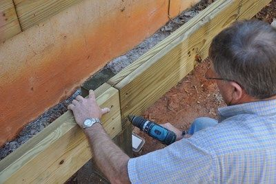 "Use a 1/2"" diameter 12"" long bit to drill thru holes for your thrubolts."