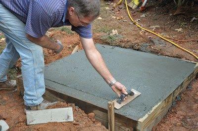 Use a minimum of 2,500 psi concrete mix.