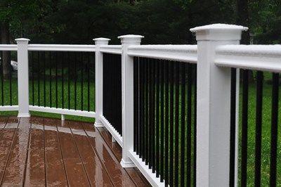 A beautiful deck rail.