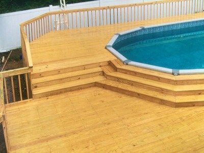 Oval Pool Deck